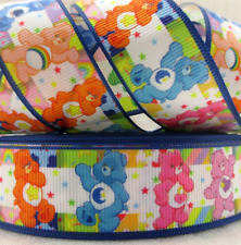 Care Bears 25MM Grosgrain Ribbon Craft Bow Sewing Metre Yard Cartoon RB2