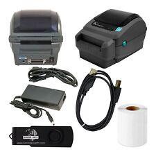 Zebra GX420d Thermal Printer GX42-202512-000 Barcode Shipping Cutter USB