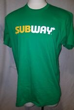 Subway Restaurant T-Shirt Medium Green