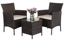 Patio Sofa Set 3 Pcs Outdoor Furniture Set PE Rattan Wicker Cushion Outdoor Gard