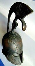 Vintage cast metal/brass Greek/Roman Galea style helmet bell - 5 inch