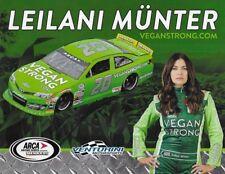 "2018 LEILANI MUNTER ""VEGAN STRONG VENTURINI"" #20 NASCAR ARCA SERIES POSTCARD"