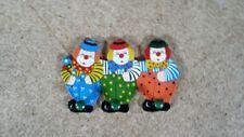 Kindergarderobe Clown bunt  3 Haken  26 x 15 cm Holz Hakenleiste
