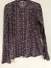 WHITE STUFF aubergine floral cotton shirt UK8