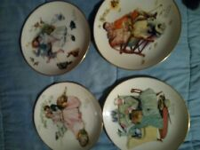 Norman Rockwell Four Seasons Set 4 Gorham Limited Collector Plates Series 1973