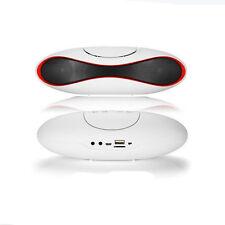 White FM Speaker For Smartphone Wireless Bluetooth Stereo Portable Tablet Laptop