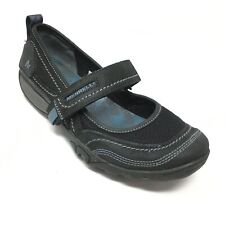 Women's Merrell Mimosa Emme Mary Jane Loafers Shoes Size 6M Black Leather B13