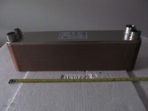 EVAPORATOR/CONDENSER 37.5 kW (10.6 RT) Brazed Plate Heat Exchanger BL50-68R TOP!