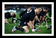 DAN CARTER - NEW ZEALAND ALL BLACKS AUTOGRAPHED SIGNED AND FRAMED  POSTER PHOTO
