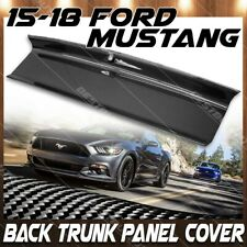 For 15-18 Ford Mustang Gloss Carbon Fiber Trunk Panel Cover Boot Overlay Trim