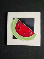 Vintage watermelon tile Signed  POL
