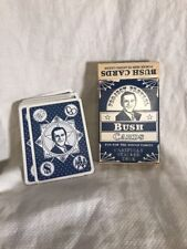 George W. BUSH CARDS Project Pretzel Poker Size Playing Cards - COMPLETE