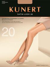 "Kunert ""Satin Look 20"" Strumpfhose transparent glänzend Gr. 36-38 bis 52-54"