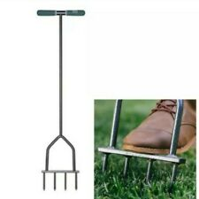 Yard Butler Lawn Spike Aerator Manual Gardening Tool Fertilizers Grass Soil Care