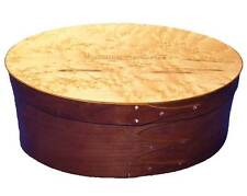 Shaker Memories Wedding Box Large with Cherry Bands & Birdseye Maple Top, Lacque