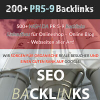 "Backlinks Linkaufbau SEO-Spezialist ""200+ PR5+"" Google Suchmaschinenoptimierung"