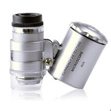 60X Handheld Mini Microscope Loupe Jeweler Magnifier With LED UV Light Cheap