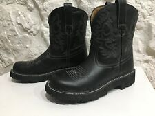 Women's ARIAT Fatbaby 4LR Western Cowboy Boots Pull On Size 9 B