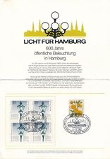 Licht für Hamburg 600 Jahre öffentliche Beleuchtung 08.12.1982 - G9d