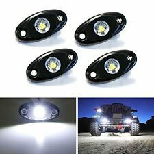 4 Universal Fit 3 CREE 9W LED Rock Light Kit For Jeep Off Road Boat Xenon White