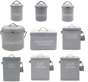 Lesser and Pavey -Home Sweet Home Kitchen Canisters Storage Containers,GREY