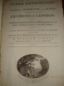 Near Complete William Curtis Flora Londinensis 1777 W/426/432 FOLIO Botanicals!