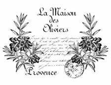 Vintage French Provence Olive Herbs  Furniture Transfers Waterslide Decal MIS596