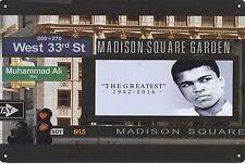 Muhammad Ali tin sign mancave bar boys room BNIP 1942-2016