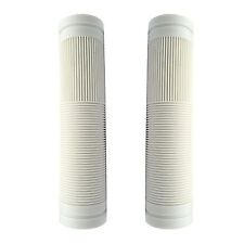 Bike Handlebar Replacement Grips WHITE Closed End 130mm Bicycle Grips