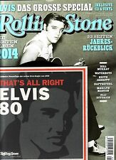 "ROLLING STONE ""JANUAR 2015"" + ELVIS ""That`s all right"" 7 Inch Vinyl + CD"