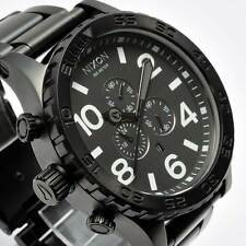 New NIXON Mens Watch 51-30 Chronograph All Black Steel A083-001 A083001