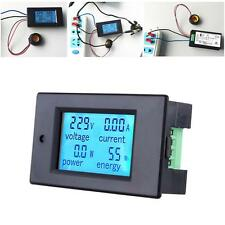 100A LCD KWh Watt Power Detection Indicator Monitor Meter Ammeter Voltmeter
