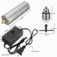 Mini Electric Drill JT0 Chuck Adjustable Speed DC 6V-24V 385 Motor AC 110-240V