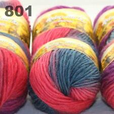 Sale LOT 6 Skeinsx50gr NEW Chunky Hand-woven Knitting Colors Scores Wool Yarn 01