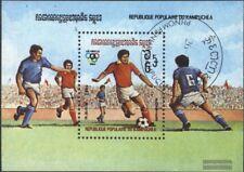 Cambogia Bloque 128 (edición completa) usado 1983 fútbol