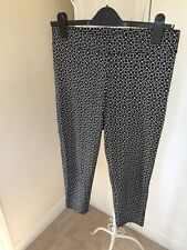 Bon Marche Black And White Stretch Leggings, Size 12