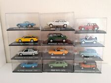 1/43 LOT 12 MODELS MINIATURES RENAULT - ALPINE - R5 TURBO - UNIVERSAL HOBBIES