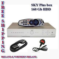 Sky Plus Box 160Gb + NEW  Remote control & SCART Lead - FREE SHIPING