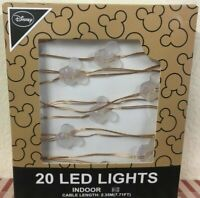 Mickey Mouse 20 Led Indoor Light Christmas Disney Light Battery Operated Primark