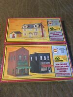 2 Boxes of 1980s AHM HO Scale Masterpiece Buildings