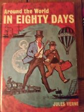AROUND THE WORLD IN EIGHTY DAYS Hard Back Book - Jules Verne 1976 NICE CONDITION