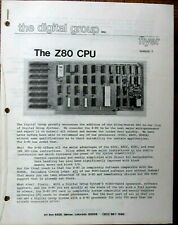 The Digital Group - S100 Bus Product Brochures 1975-1979