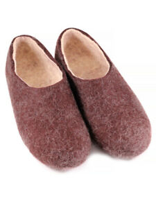 Russian Slippers Felt 100% One Color Handmade Valenki Woole Brand