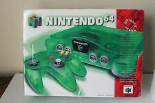 Nintendo 64 JUNGLE DK GREEN CIB Box Complete Rare Atomic Clear Colored HTF