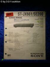 Sony Service Manual ST JX661 / SE200 Tuner  (#0964)
