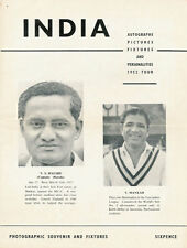India tour of England 1952 4 page photographic souvenir published by M Walker
