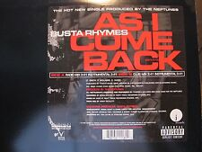 """BUSTA RHYMES AS I COME BACK 12"""" L.O.N.S A TRIBE CALLED QUEST Q-TIP DJ PREMIER"""