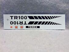 Decal - Terex TR100  - Diecast  Model -  Water Slide 1/48 - 1/50 D002
