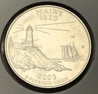 2003 MAINE STATE QUARTER. COLLECTOR COIN FOR YOUR COLLECTION OR SET.