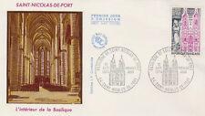 FRANCE FDC - 903 1810 2 BASILIQUE DE SAINT NICOLAS DE PORT 12 10 1974- LUXE